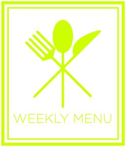 Image of weekly menu graphic