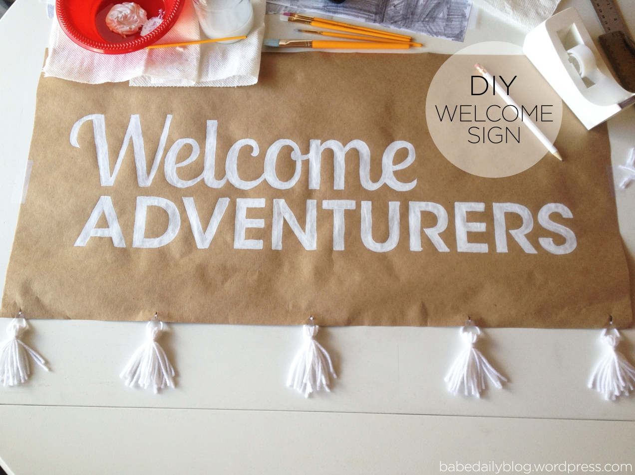 Welcome Adventurers Sign