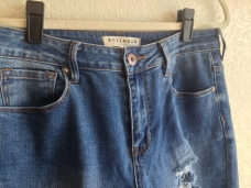 Photo of High Waisted Jeans Detail Button