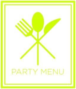 Image of Party Menu Graphic