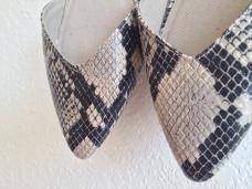 Photo of Snakeskin Flats Detail Front