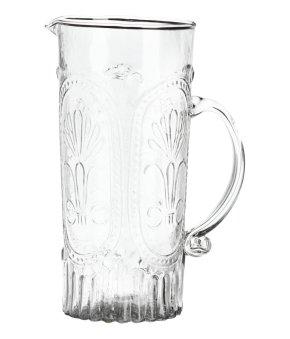 Patterned Glass Pitcher