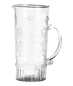 Patterned Glass Pitcher