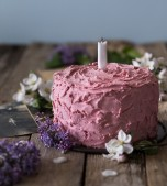 Chocolate Raspberry Birthday Cake