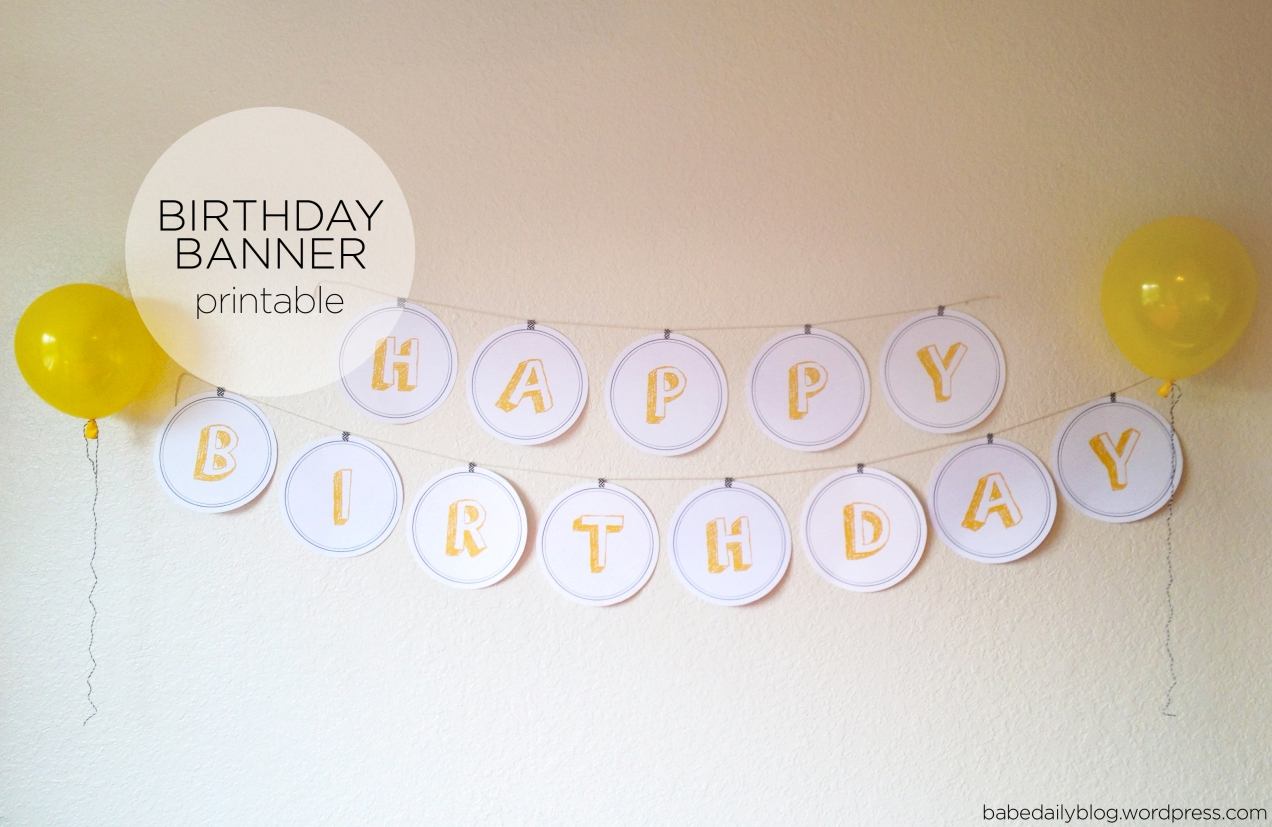 Circle Flag Birthday Banner