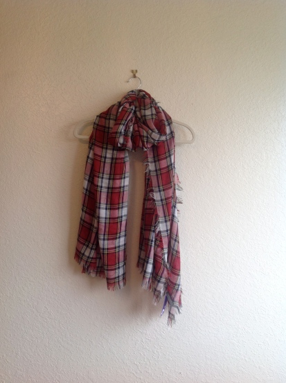Woven Plaid Scarf