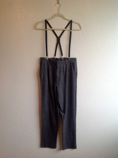 Heathered Suspender Trousers