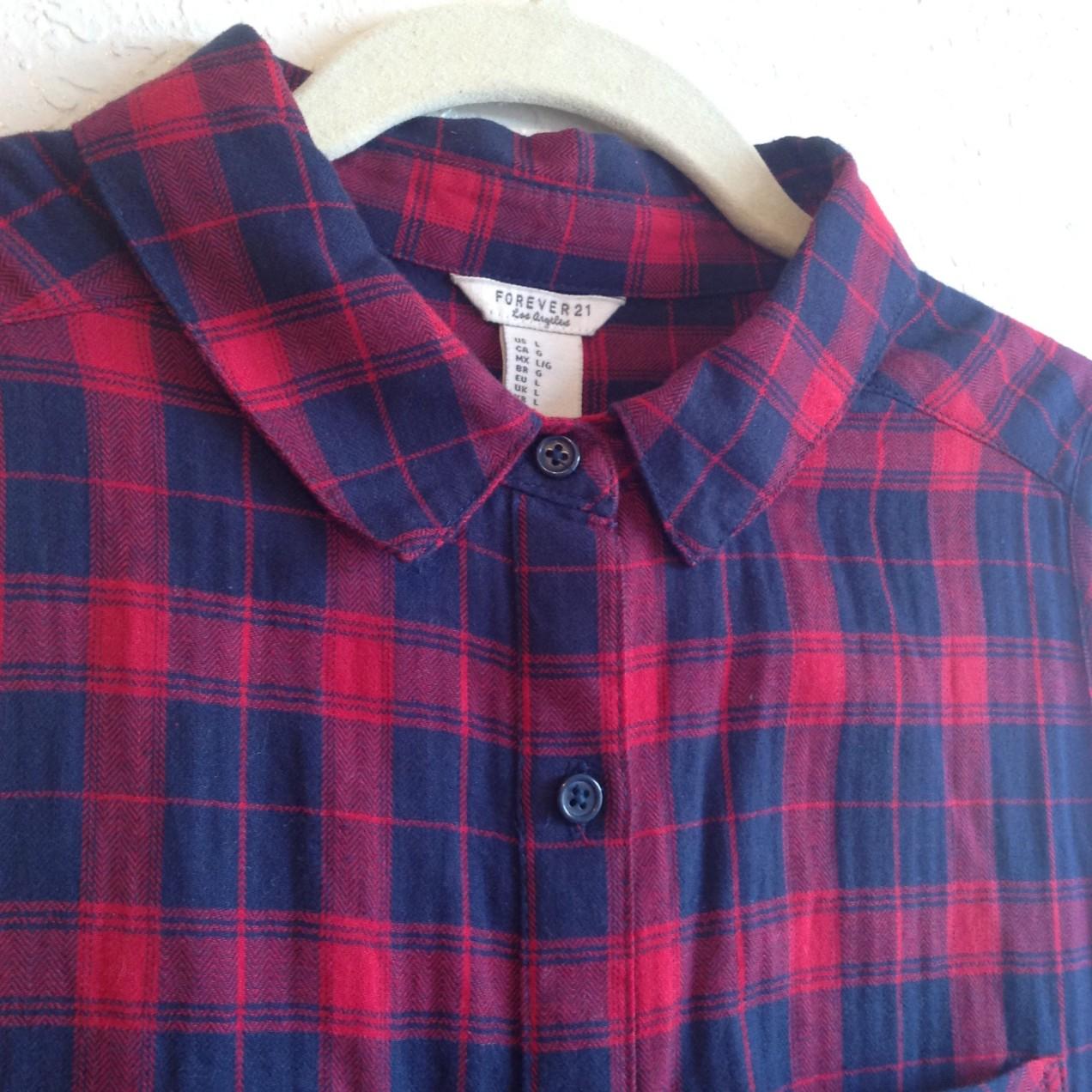 Plaid Button-Down Midi Dress