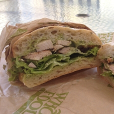 Chicken Sandwich w/ Basil Aioli from Whole Foods