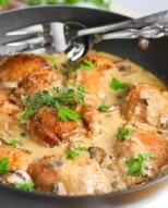 Creamy Chicken and Mushroom Skillet