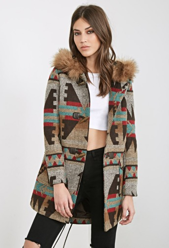 Southwestern-Patterned Toggle Parka