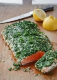 Roasted Salmon with Green Herbs