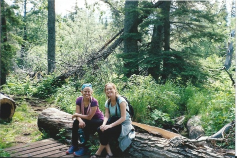 My babes Bree & Bekah taking a break while hiking McHugh Creek