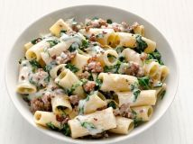 Rigatoni with Swiss Chard and Sausage