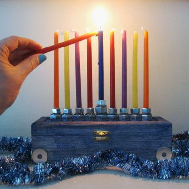 Hardware Menorah DIY