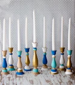 olor Blocked Menorah DIY