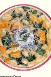 Creamy Butternut Squash and Spinach Gnocchi