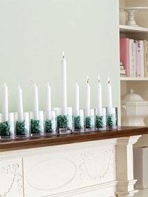 Glass Votive Menorah DIY