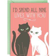 Nine Lives Valentine Card