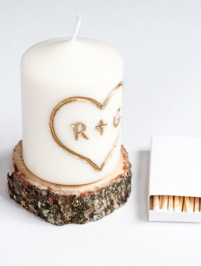DIY Carved Candle