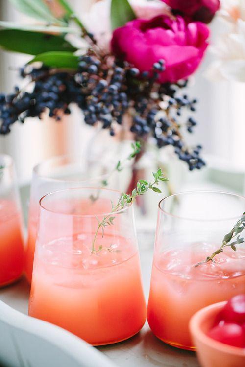 Thyme & Pink Grapefruit Greyhound