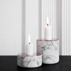 Menu Chunk of Marble Candleholders