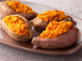 Sausage-Stuffed Sweet Potatoes