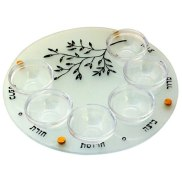 Pesach Seder Plate with Olive Branch