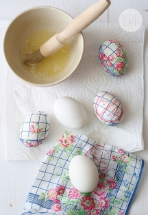Easter Eggs Decorated with Paper Napkins