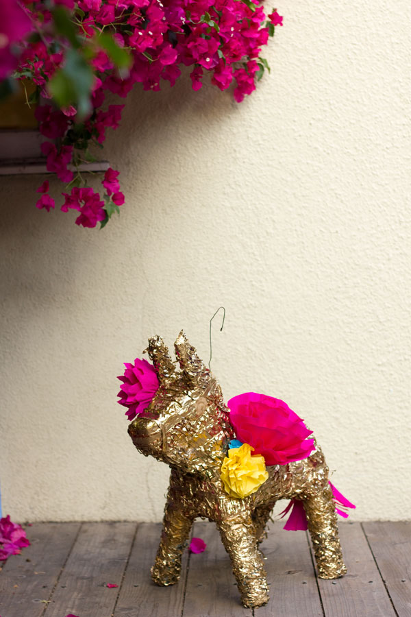 DIY Gilded Paper Flower Piñata